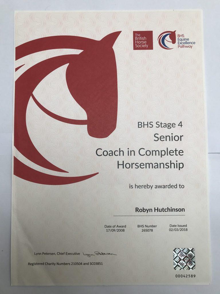 BHS Senior Coach